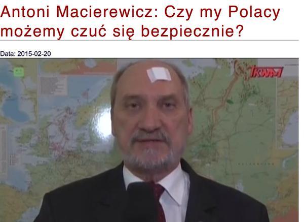 głowa Macierewicza