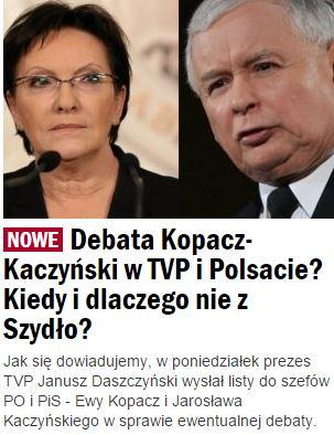 DebataKopaczKaczyński1