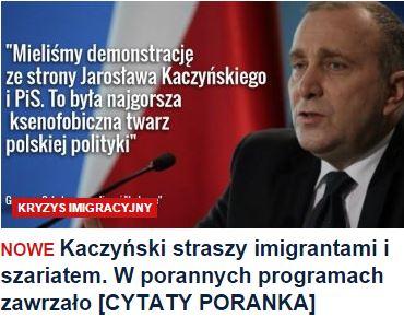 kaczyńskiStraszyImigrantami