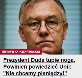 prezydentDudaTupieNogą