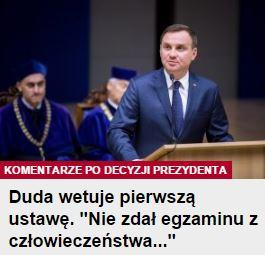 dudaWetujePierwsząUstawę
