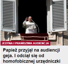 papieżPrzyjąłNaAudiencji