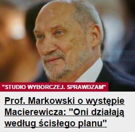 profMarkowskiOwystępieMacierewicza